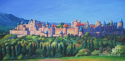 Unesco Painting - Carcassone   by John Clark