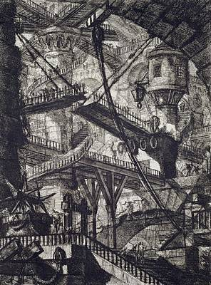 Dungeon Drawing - Carceri Vii by Giovanni Battista Piranesi