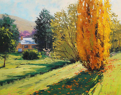 Fiery Painting - Carcor Autumn by Graham Gercken