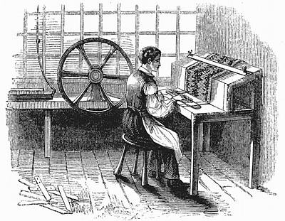 Card Punching Machine For Jacquard Looms Print by Universal History Archive/uig