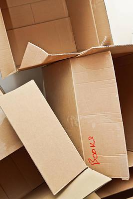 Cardboard Boxes Print by Tom Gowanlock