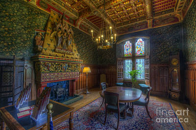 Dining Hall Photograph - Cardiff Castle Apartment Dining Room by Yhun Suarez