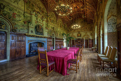 Dining Hall Photograph - Cardiff Castle Dining Hall by Yhun Suarez