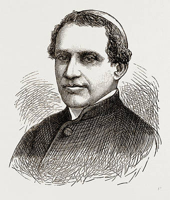 Cardinal Drawing - Cardinal Antonelli, Engraving 1873 by Litz Collection