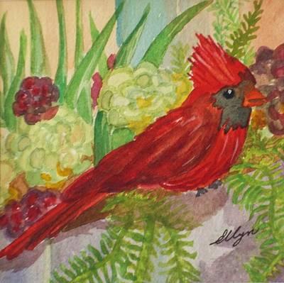 Aloe Painting - Cardinal by Ellen Levinson