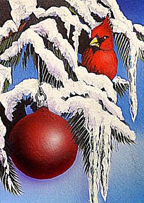 Cardinal One Ball Print by Darren Robinson