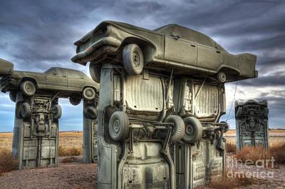 Carhenge Automobile Art 2 Print by Bob Christopher