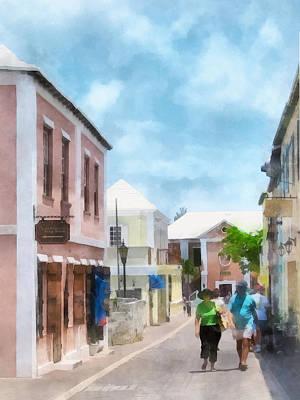 Caribbean - A Street In St. George's Bermuda Print by Susan Savad