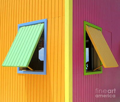 Window Photograph - Caribbean Corner 3 by Randall Weidner