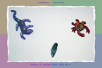 Salamanders Mixed Media - Caribbean Creatures No. 2 by Fabiola L Nadjar Fiore