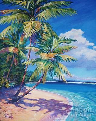 Seven Mile Beach Painting - Caribbean Paradise by John Clark