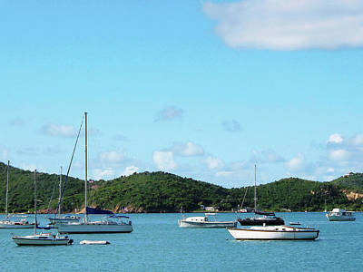 Caribbean - Peaceful Sea St. Thomas Print by Susan Savad