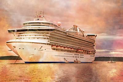 Caribbean Princess In A Different Light Print by Betsy C Knapp