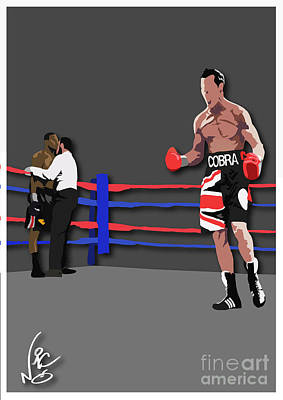 Carl Froch Vs Jermain Taylor Original by Neil Roberts