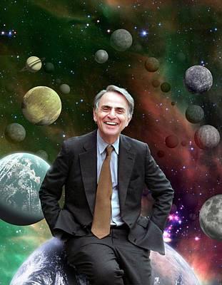 Carl Sagan Print by Nasa/jpl-caltech
