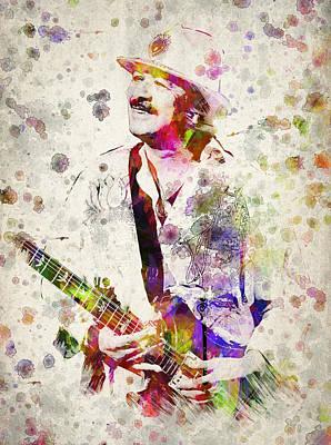 Carlos Santana Print by Aged Pixel
