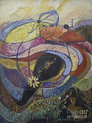 Carlsbad Flower Fields #2 Original by Avonelle Kelsey