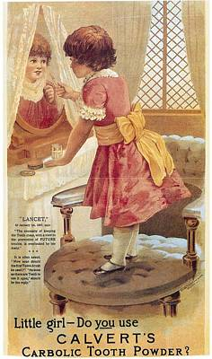 Carlvert's Carbolic Tooth Powder Ad Print by Gianfranco Weiss
