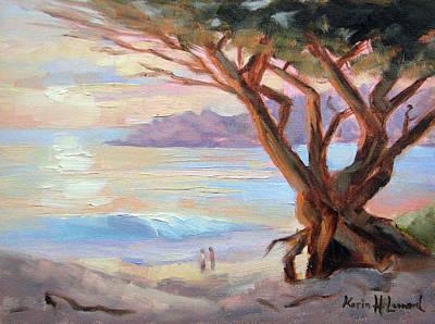 Carmel Beach Winter Sunset Original by Karin  Leonard