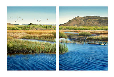 Estuary Painting - Carmel Lagoon by Logan Parsons