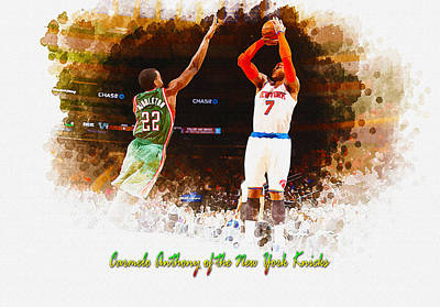 Carmelo Anthony Of The New York Knicks Original by Don Kuing