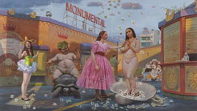 Sun Signs Painting - Carmencitas Sordid Tales by Alfredo Arcia