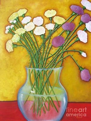 Painting - Carnations by Venus