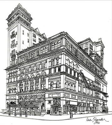 Carnegie Hall Back In Time Print by Ira Shander