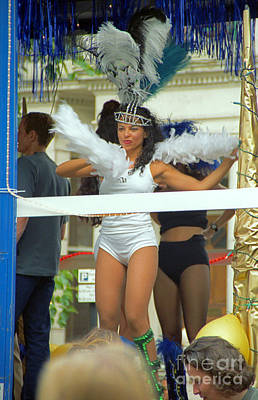 Photograph - Carnival Girl In Costume Social Occcasion by Richard Morris