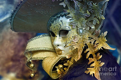 Carnival In Venice 18 Print by Design Remix