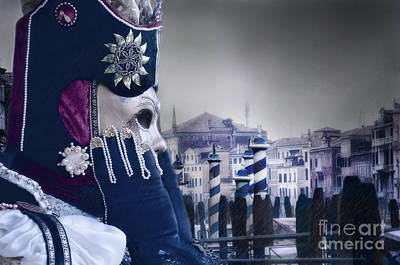 Carnival In Venice 20 Print by Design Remix