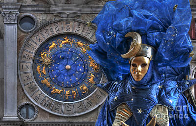 Carnival In Venice 3 Print by Design Remix