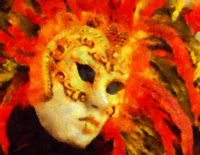 Famous Painting - Carnival Mask 1 by George Rossidis