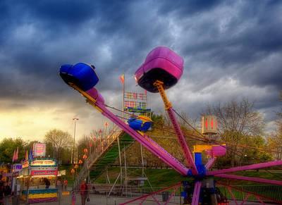 New Hampshire Photograph - Carnival Rides - Nashua Nh by Joann Vitali
