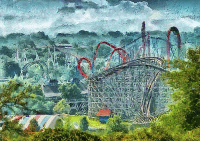 Carnival - The Thrill Ride Print by Mike Savad