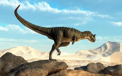 Dino Digital Art - Carnotaurus by Daniel Eskridge