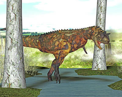 Carnotaurus Dinosaur Print by Friedrich Saurer