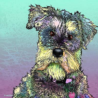 Schnauzer Art Digital Art - Caro by Marlene Watson