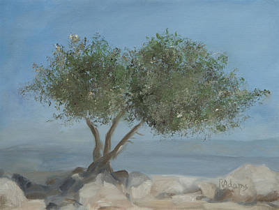 Carob Tree On Mt. Arbel  Original by Rita Adams