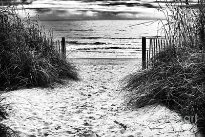 Carolina Beach Entry Print by John Rizzuto