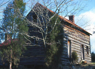 Log Cabin Art Mixed Media - Carolina Cabin by Richard Rizzo
