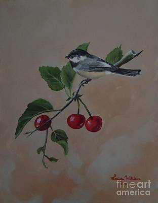 Carolina Chickadee Print by Louise Williams