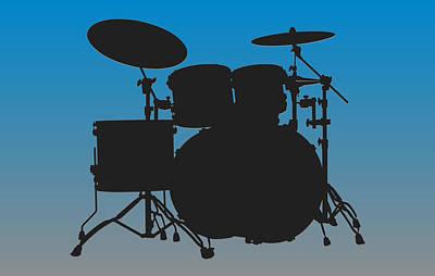 Carolina Panthers Drum Set Print by Joe Hamilton