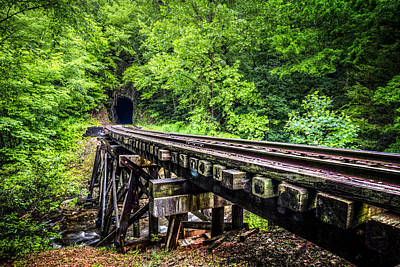 Carolina Railroad Trestle Print by Debra and Dave Vanderlaan