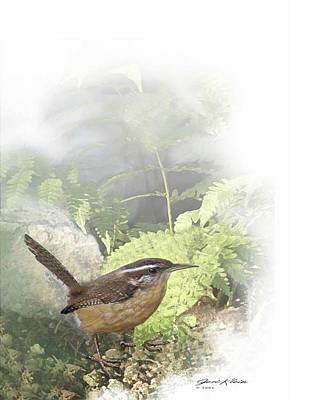Carolina Wren Digital Art - Carolina Wren by Jeri Klein
