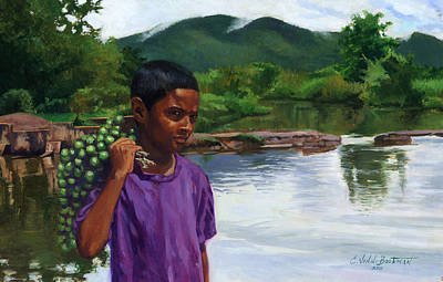 American Food Painting - Caroni Chennette by Colin Bootman