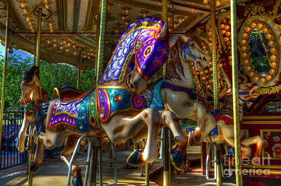 Carousel Beauties Ready To Ride Print by Bob Christopher