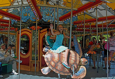 Carousel By The Sea II Original by Suzanne Gaff