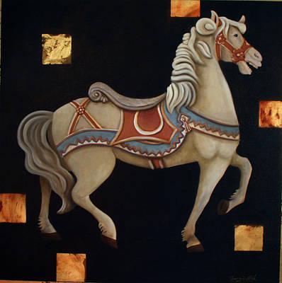 Carousel Horse Print by Gerry High