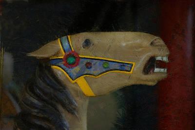 Carousel Horse Painterly 2 Print by Ernie Echols